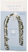 "Darice Decorative 8 Foot Tall White Wedding Arch with 200 Netting Lights – Indoor and Outdoor Arch for Weddings, Events and More, Easy to Enhance with Flowers, Greenery, Ribbon and More, 20"" x 48"" x 96"""