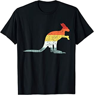 TIANLAGNHB Kangaroo T-Shirt Vintage Retro Tshirt Gift Tee Australia