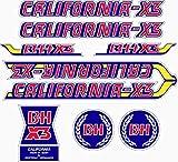 Kit de adhesivos motos clasicas BH California X3 - Juego Pegatinas Completo - Vinilo para Moto, máxima Calidad.