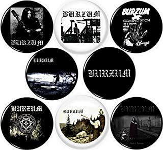 Burzum Set of 8 New 1 inch (25 mm) pins Buttons Badges Black Metal Norwegian Heavy Varg Vikernes