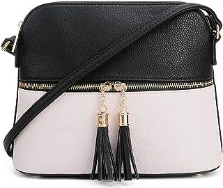 Best SG SUGU Lunar Lightweight Medium Dome Crossbody Bag Shoulder Bag with Tassel | Zipper Pocket | Adjustable Strap Reviews