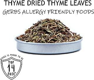 Gerbs Dried Thyme Leaves - 2 Pack (1.75 oz. Shaker Jar) - Top 14 Food Allergen Free - Gourmet Chef Grade