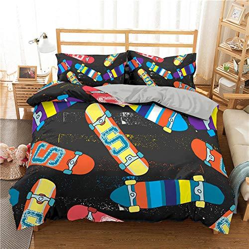Bedclothes-Blanket Funda nórdica 3D 220x240,Cubierta de la Colcha de impresión 3D de la Scooter de Cama de Tres Piezas-1_228 * 228cm
