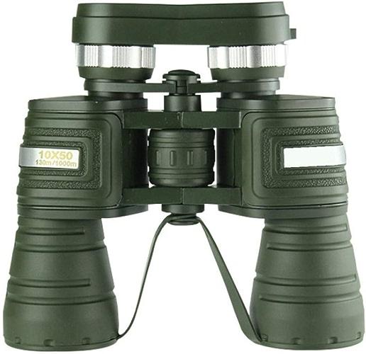 WYJ 10X50 Haute Puissance HD Jumelles Grand Oculaire Miroir De Voyage,Vert,Binoculaire