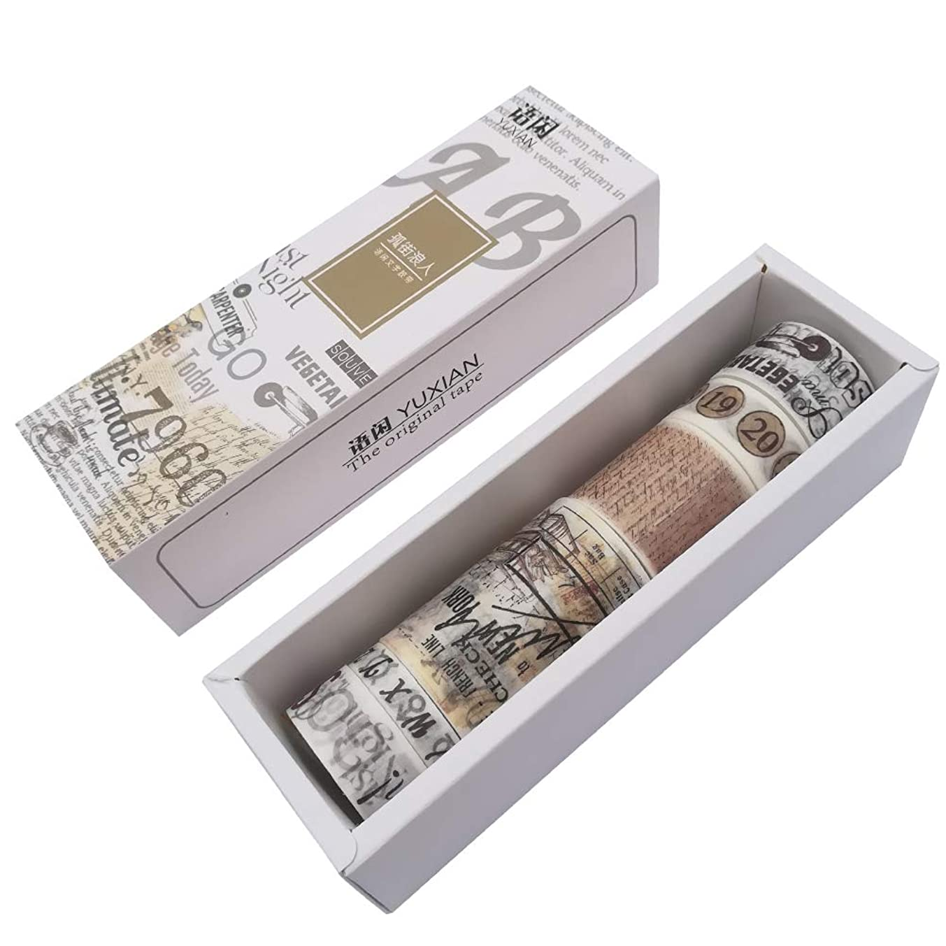 6 Rolls Kawaii Washi Masking Tape Set DIY Craft Scrapbooking Diary Album Planner Journal Decorative Label School Stationery (B)