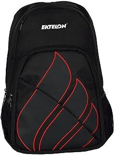 Ektelon Team Backpack Racquetball Bag - Black/Silver/Red