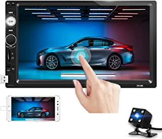 Double Din Car Stereo 7 Inch Touch Screen Car Radio Bluetooth Audio FM Radio Receiver with USB AUX SD Card Port Support Mi... photo