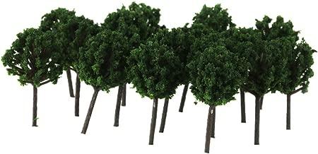 Lovoski 50x Z Scale Model Tree Train Railway Building Park Street Scenery Layout 4cm