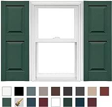Mid America Williamsburg Raised Panel Vinyl Standard Shutter - 1 Pair - 14.75 x 75 028 Forest Green
