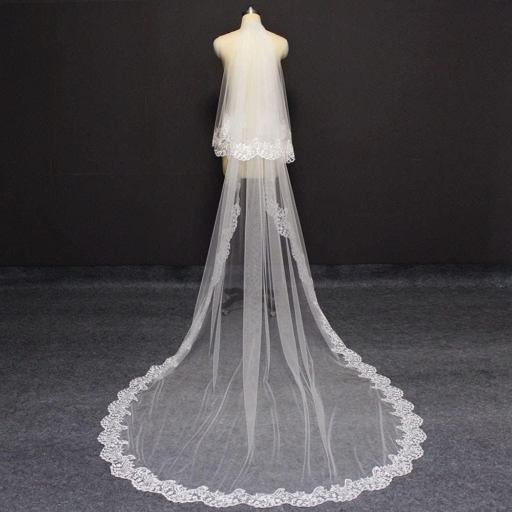 HUIJK Veil Elegant 2 Layers Ranking TOP10 Wedding 3 25% OFF Comb 2T Meters W with