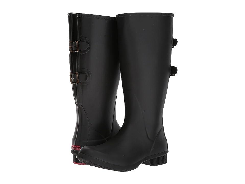 Chooka Versa Wide Calf Tall Boot (Black) Women's Rain Boots