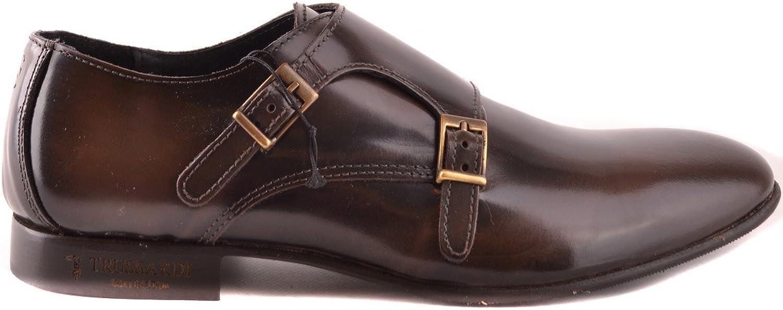 1739d3c9c Trussardi EZBC149003 Men's Brown Leather Monk Monk Monk Strap shoes 73293b