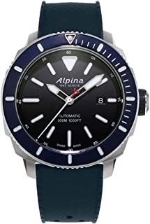 Alpina Men's SEASTRONG Diver 300 Stainless Steel Automatic-self-Wind Watch with Rubber Strap, Black, 22 (Model: AL-525LBN4V6)