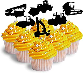 Construction Cupcake Topper Cardstock 12 per Pack Cupcake Topper Construction machines