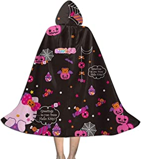 Hello Kitty Halloween Pumpkin Hooded Cape for Kids Children's Cloak with Hood for Halloween Role Play Devil Vampire Wizard