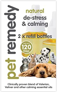 Pet Remedy Natural De-Stress and Calming Refill Pack, 40 ml, Pack of 2