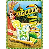 Nostalgic Art Caipirinha - Placa decorativa, metal, 30 x 40 cm, multicolor