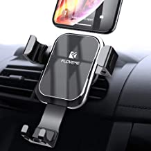 Gravity Car Phone Mount FLOVEME Cell Phone Holder for Car Hands Free Auto Lock Air Vent Car Phone Holder Compatible iPhone 11 Pro XS MAX X XR 8 7 6 Plus Samsung S10 S10E S9 S8 Plus S7 Edge Note 8 9 10
