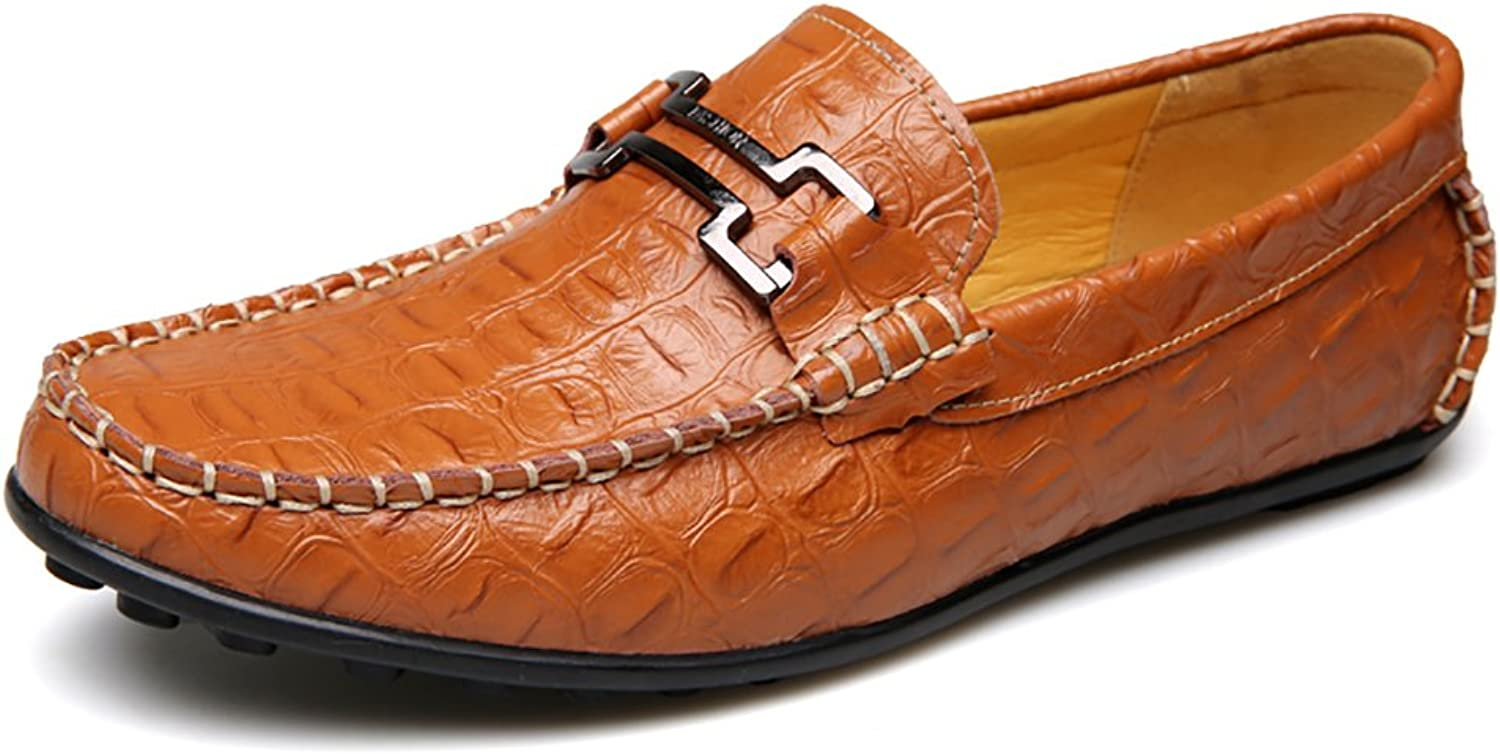 No.66 Town Män's Crocodile Driver läder Flats Loafers Casual Casual Casual Boat skor  online shopping sport