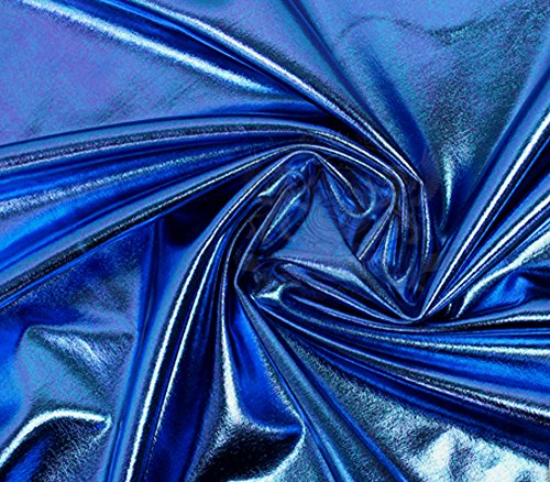 Spandex Fabric Metallic Royal Blue / 60' Wide/Sold by The Yard