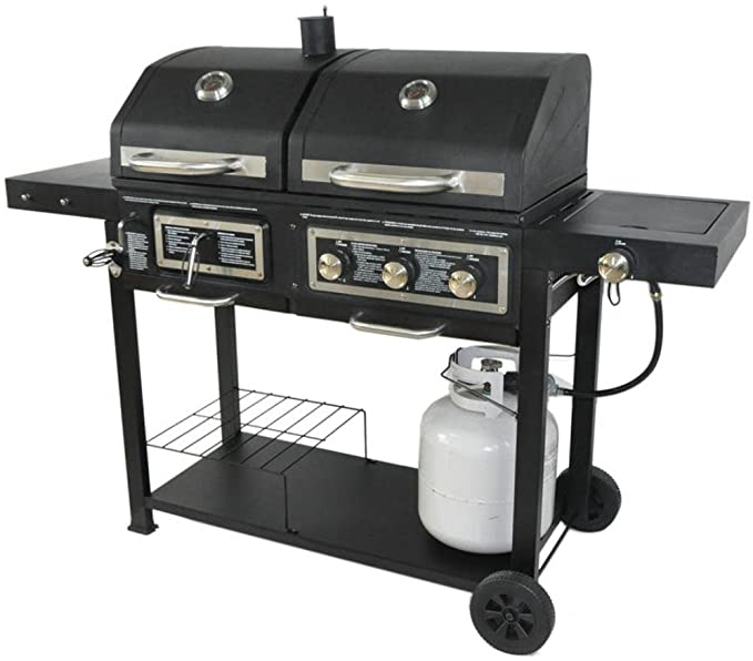 Dual Fuel Combination Charcoal/Gas Grill – Best Budget Hybrid Grill