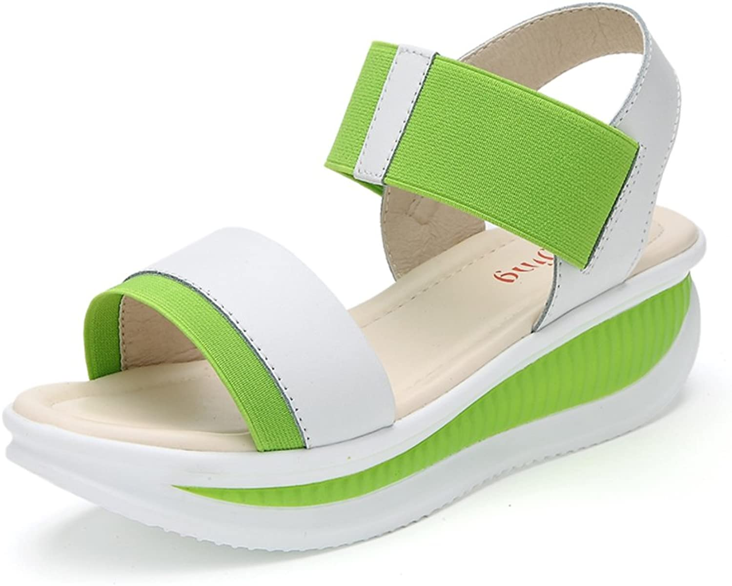 MET RXL Lady,Middle Heels,Anti-skidding,Shaking shoes Wedges,Thick-Soled,Casual Sandals