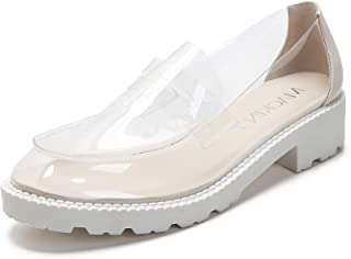 578-1 Women's Clear Shoes Slip On Fashion Loafers Sneaker Transparent Shoes