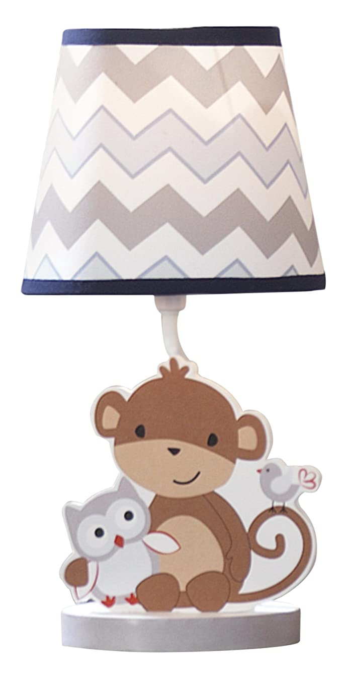 Bedtime Originals Mod Monkey Lamp with Shade and Bulb