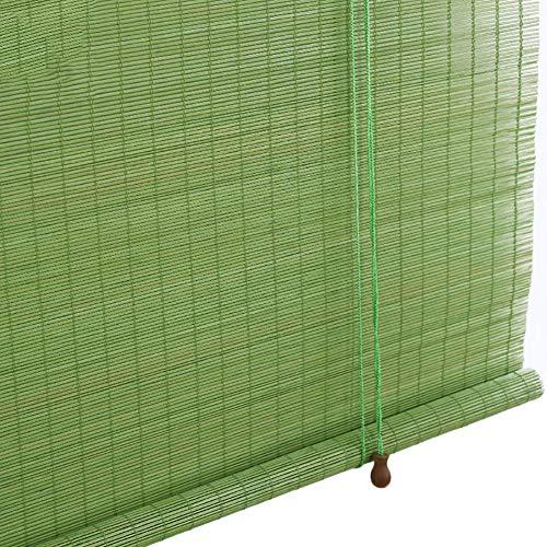 Persianas de Bambu Persianas Enrollables de Bambú Gazebo Verde, Cortina de Madera de Oscurecimiento de Habitación para Decor de Puertas de Ventana, Tamaño Opcional (Color : W×H, Size : 1x2.2m)