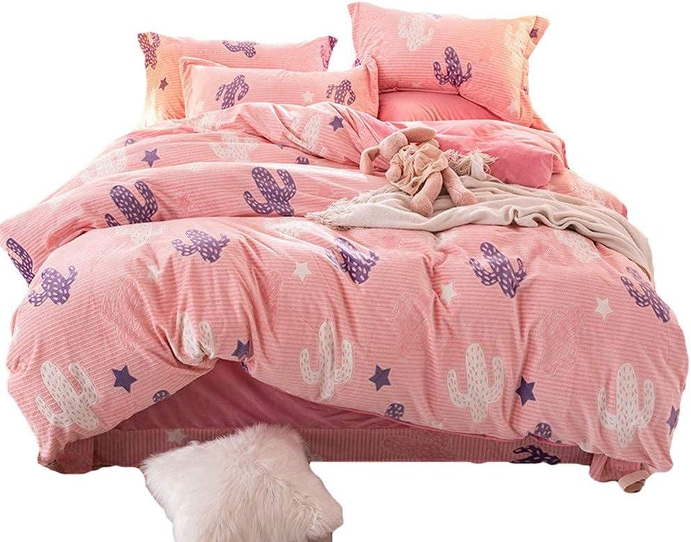 Bedding Inventory cleanup selling sale Set Velvet Flannel 4pcs Queen Cover Duvet Mod Sales Winter
