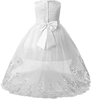 Little/Big Girls High-Low Bridesmaid Flower Girl Baptism Christening Birthday Party Dress