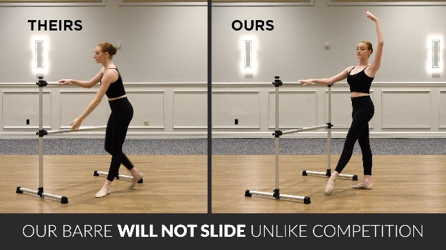 The Beam Store 10-Feet Wall Mounted Ballet//Exercise Barre Made in USA Renewed