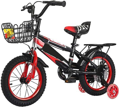 ¡envío gratis! Axdwfd Infantiles Bicicletas Bicicletas para Niños 12 14 16 18 18 18 Pulgadas, Bicicleta para Niños de Acero al Carbono con Rueda de Entrenamiento Regalo para Niños y niñas de 2 a 9 años  en stock