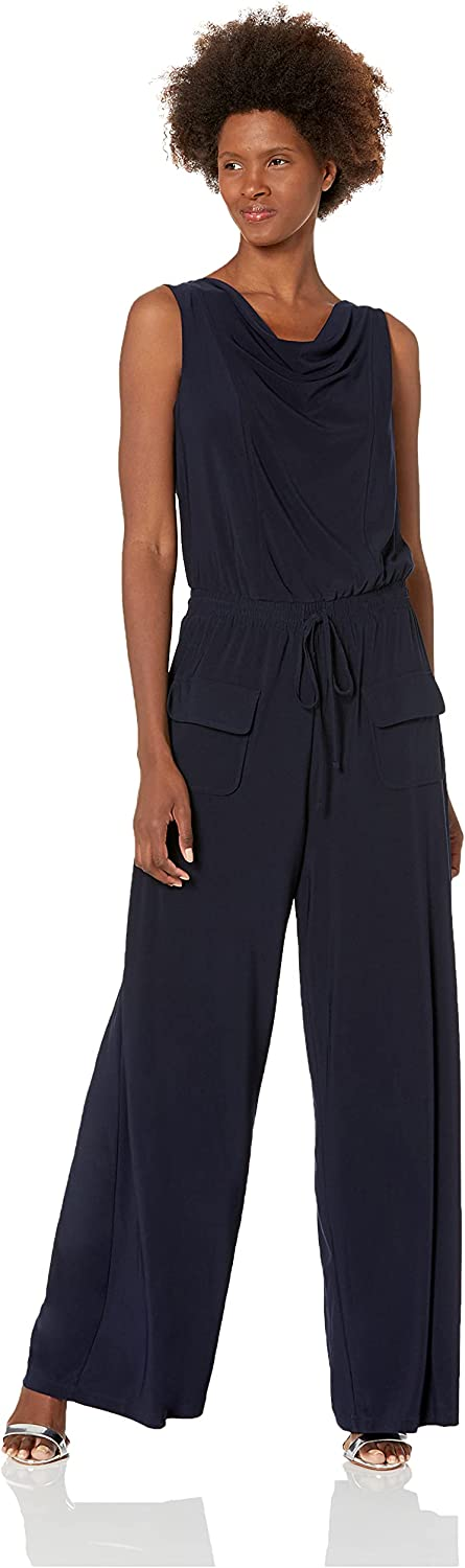 Vince Camuto Women's safety Solid Max 76% OFF Jumpsuit Ity Cowl Neck