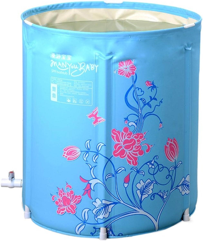 Everyday Home Adult Bracket Badewanne Falten tragbare Baby Badewanne Fass Schwimmbad Multi-Purpose Home Badezimmer Zubehr (Farbe   Blau, gre   75  70cm)