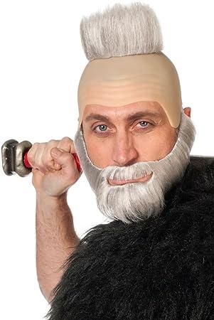 Glatze bart mit Glatze und
