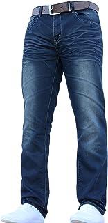Crosshatch Men's Straight Leg Jeans Trousers
