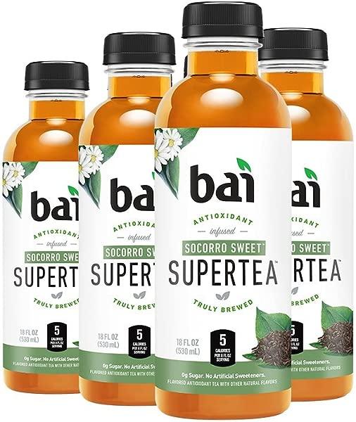 Bai Iced Tea Socorro Sweet Antioxidant Infused Supertea Crafted With Real Tea Black Tea White Tea 18 Fluid Ounce Bottles 6 Count
