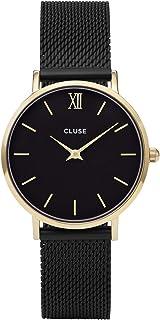 Cluse Women's Minuit Mesh 33mm Steel Bracelet Metal Case Quartz Dial Analog Watches Collection