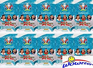 2020 Panini Adrenalyn UEFA EURO Collection of TEN(10) Factory Sealed Packs with 80 Cards! Imported from Europe! Look for Top Stars including Ronaldo, Kane, Mbappe, Ramos, Modric & Many More! WOWZZER!