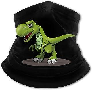 Pasamontañas con diseño de dinosaurio verde con protección UV para el cuello, a prueba de viento, multifunción, para niños...