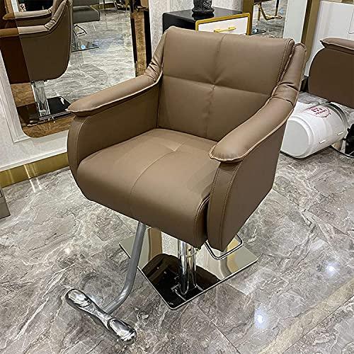 Sedia classica da parrucchiere elettrica per capelli, sedia da parrucchiere, sedia idraulica per salone di bellezza semplice e moderna di fascia alta con interfaccia USB