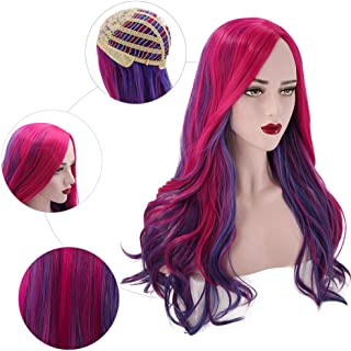 PATTNIUM Long Wavy Pink Purple Wig Women Girl's Costume Wig Child Anime Cosplay Halloween Party Wig (Adult)
