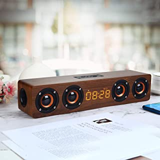 W8C Modern Simple Portable Clock Speaker High Definition Display Screen Multi-Function Alarm Clock BT Small Loudspeaker