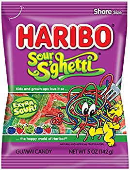 12-Pack Haribo Sour S'ghetti Gummi Candy 5-Ounce Bags
