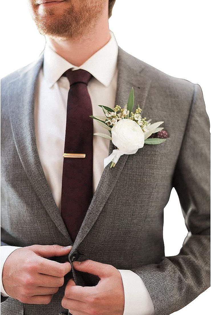 Men's 3 Piece Slim Fit Suit Separates, Grooms Solid Wedding Tux Jacket Vest Pants Set