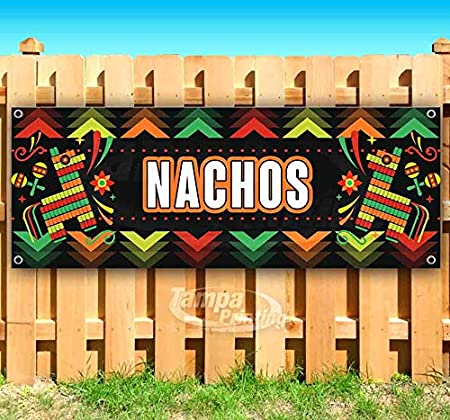Nachos 13 oz Banner Heavy-Duty Vinyl Single-Sided with Metal Grommets