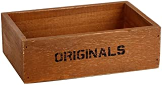 WinnerEco Handmade Rustic Antique Storage Vintage Wooden Boxes/Crates Trugs Retro