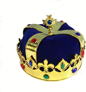 earlyad Set de Sombreros Halloween King Crown King Scepter Masquerade Dress Up Juegos de rol