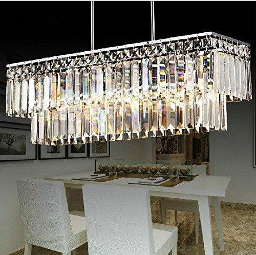 Gowe Kristall Anhänger Licht Home Beleuchtung K9Kristall Vintage Deco Anhänger Deckenleuchte Plafon Beleuchtungen lustres de Sala Techo